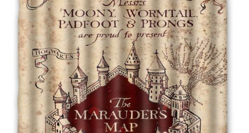 Harry Potter Marauders Map Shower Curtain Mycasescovers