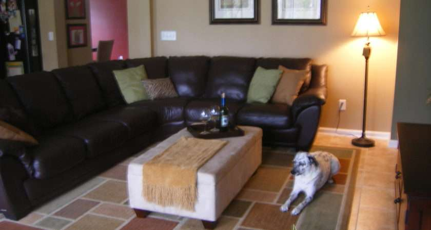 Have Dark Brown Leather Sectional Even Though Not Decorater