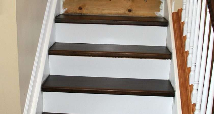 Heading Installing New Stair Risers Tempting Thyme