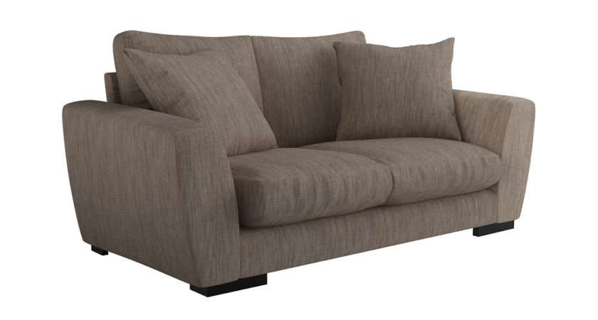 Heal Slouch Seater Sofa Broad Weave Pebble
