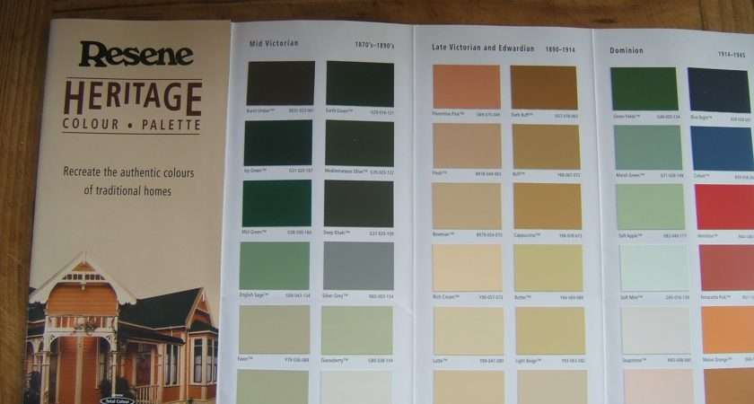 Heritage Colour Chart Frompo