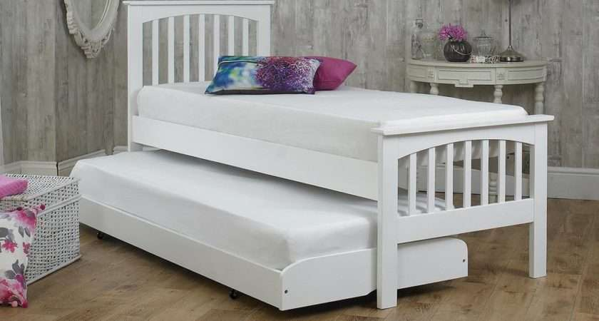 Heywood White Solid Wood Guest Bed Small Single