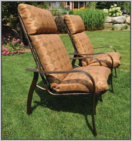 High Back Outdoor Chair Cushions Chairs Home