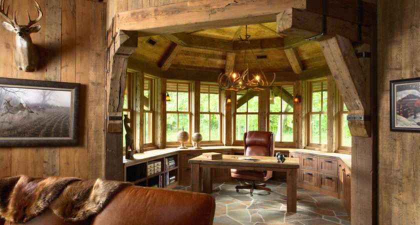 Highcroft Hunting Barn Rustic Home Office