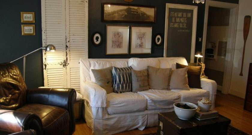 Highlights Post Teal Brown Living Room