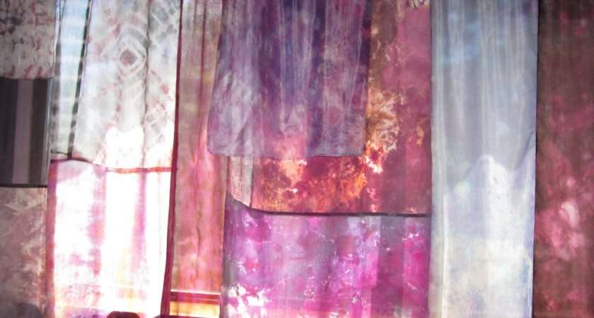 Hippie Tie Dyed Boho Silk Curtains
