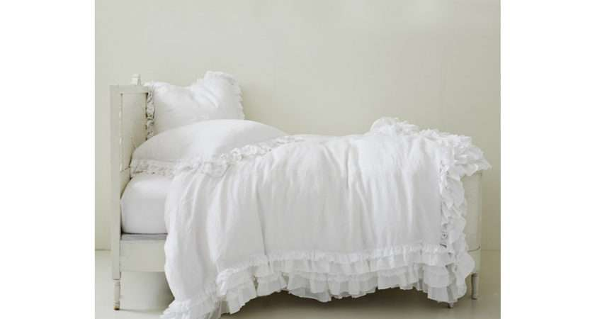 Home Bedding Collection Petticoat White