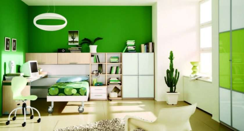Home Decor Interior Green Color Painting Ideas Walls