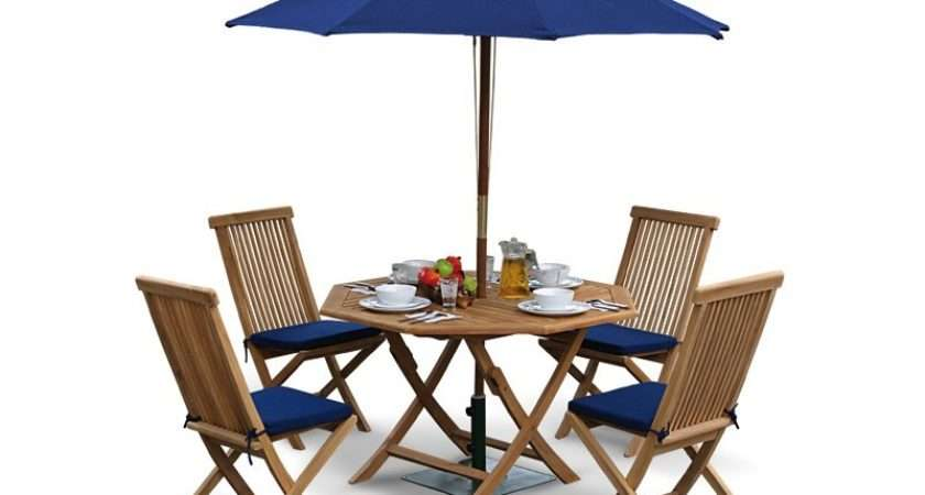Home Dining Sets Suffolk Octagonal Folding Table Chairs Set