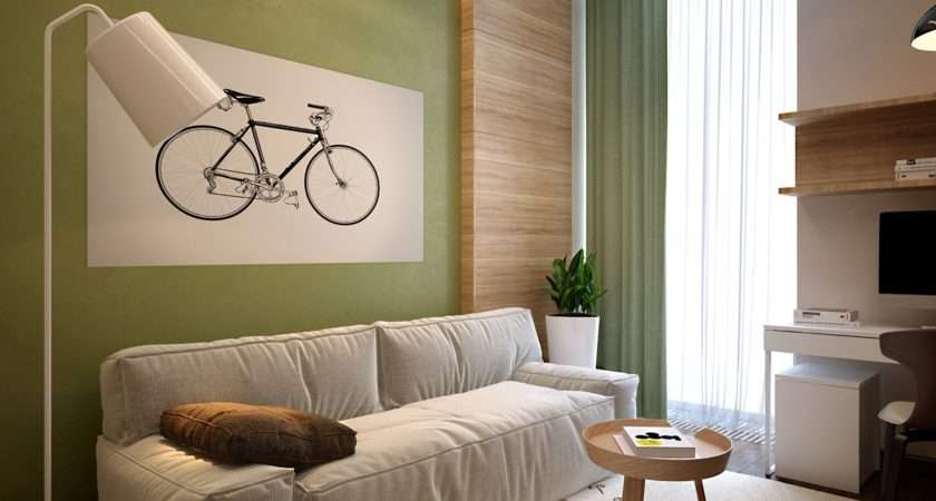 Home Front Room Have Fresh Color Scheme Uses