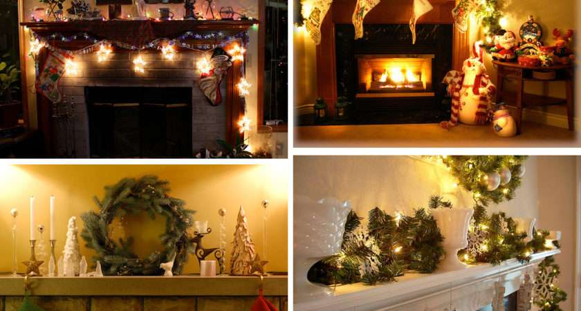 Home Furniture Decorating Mantel Christmas Decorations Ideas