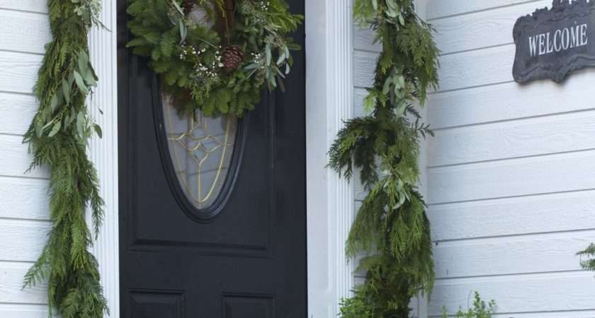 Home Holidays Ideas Simple Front Door