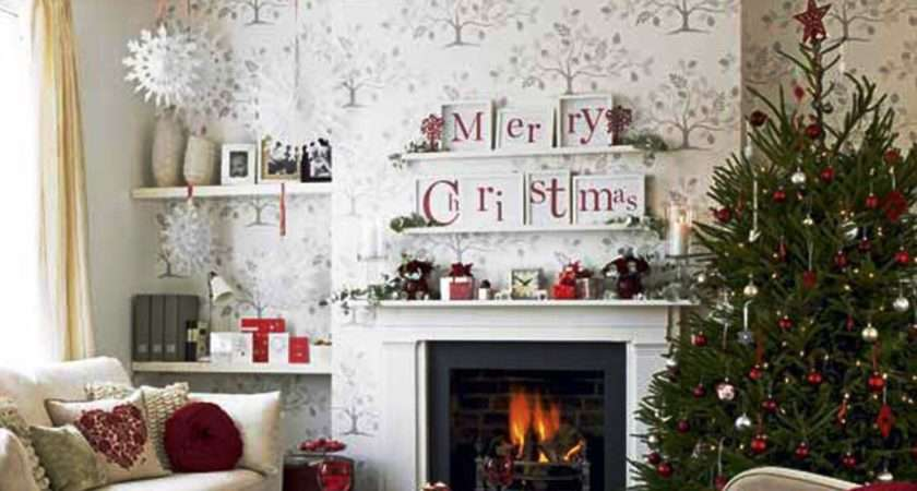 Home Living Room Designs Christmas Decorations
