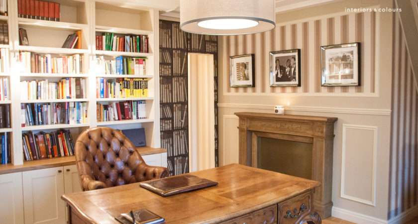 Home Office Library Under Roof Interior Design Project