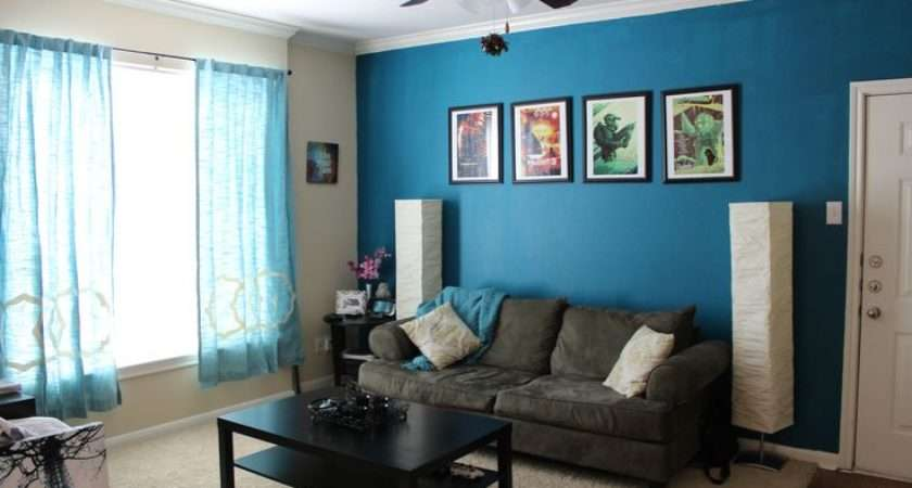 Home Pinterest Accent Walls Teal Living Rooms