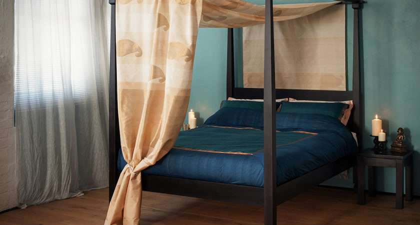 Home Shop Four Poster Bed Raj Colonial Style