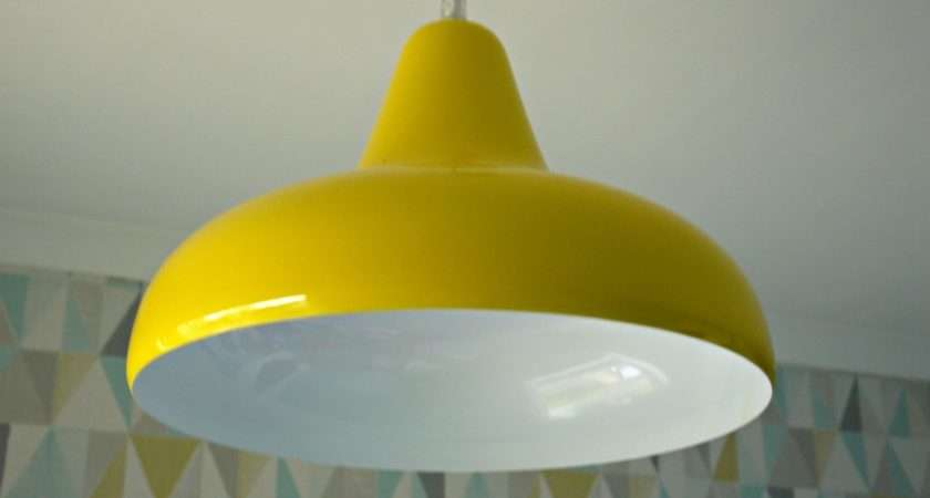 Homebase Lighting Yellow Pendant