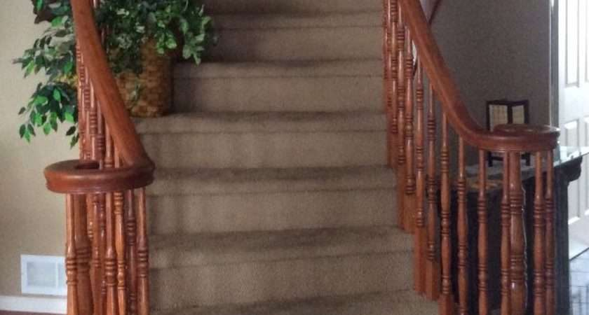 Hometalk Replace Stained Carpet Curved Staircase