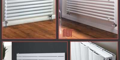 Horizontal White Designer Radiators Oval Tube Flat