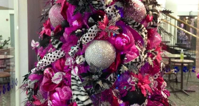 Hot Pink Gold Christmas Decorations
