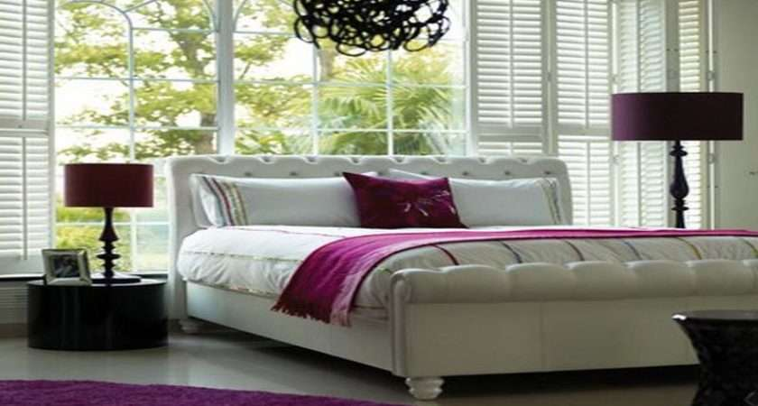 Hot Pink White Bedroom Accessories