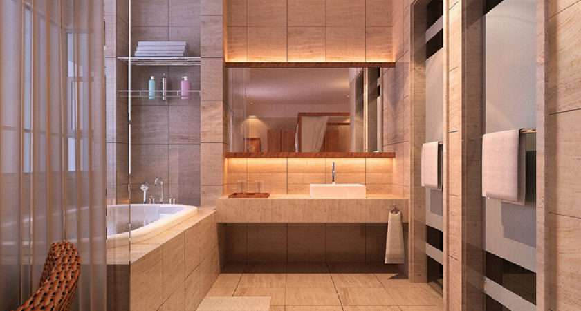 Hotel Bathroom Interior Design Rendering Star