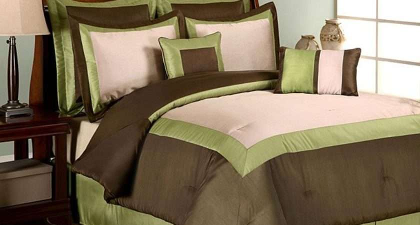 Hotel Green Piece Comforter Set Shipping Today