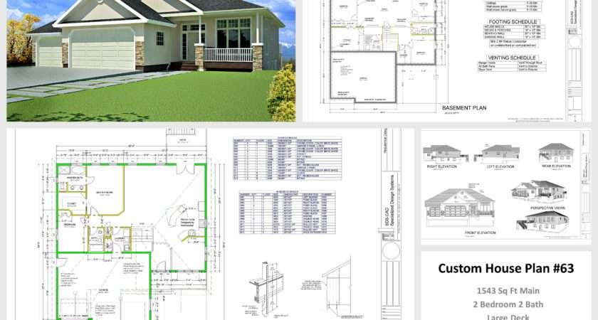 House Cabin Plans Plan Custom Home Design Dwg