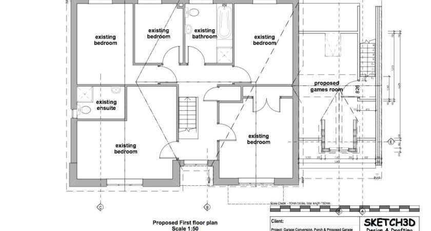 House Extension Design Proposed First Floor Plan Lentine