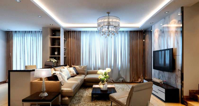 Ideas Covering Modern Living Room Curtains