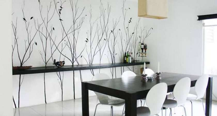 Ideas Dining Room Black White Themed