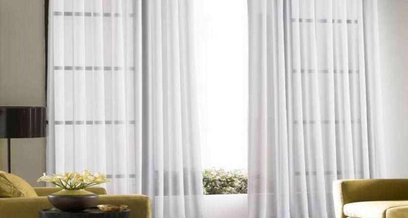 Ideas Sliding Door Curtains Cool White