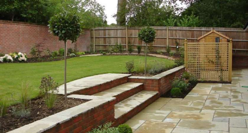 Ideas Sloping Gardens Designs Landscaping Gardening