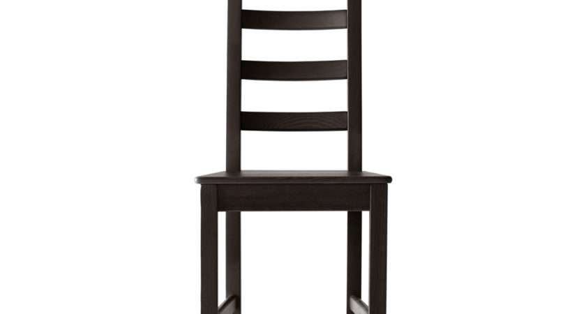Ikea Kaustby Brown Black Wood Dining Chair
