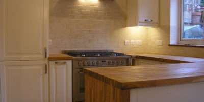 Ikea Kitchen Our Own Oak Worktops Waterfall End Panel Feature
