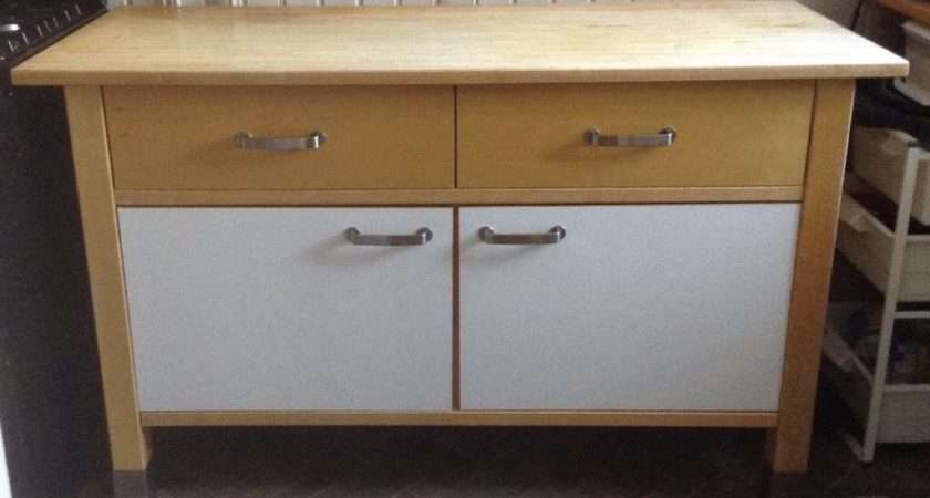 Ikea Varde Kitchen Unit Solid Wood Standing