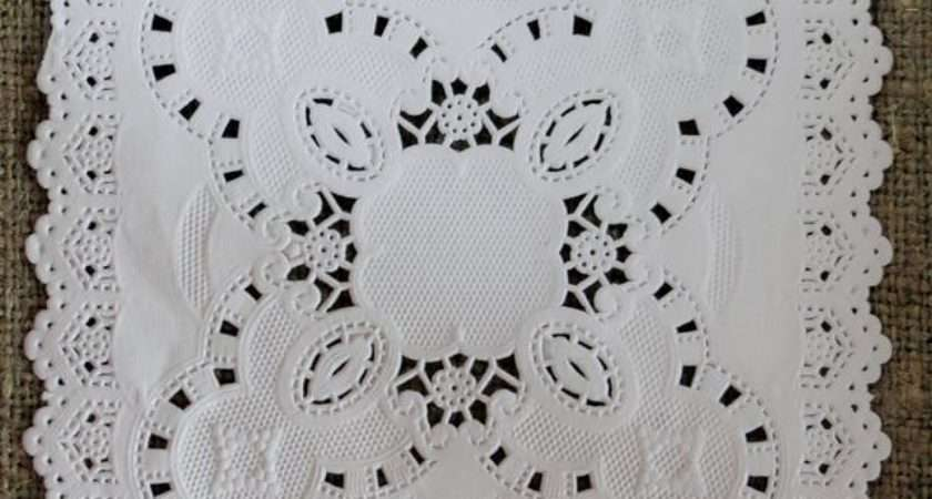 Inch Square Lace Paper Doilies Cards