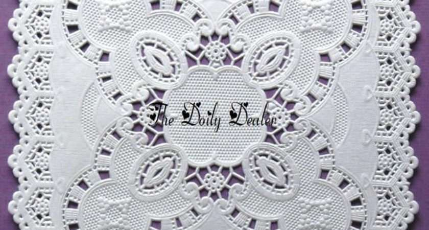 Inch Square Paper Lace Doilies Ebay