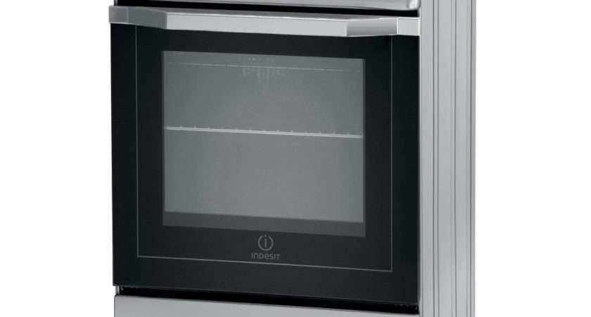 Indesit Cooker Silver
