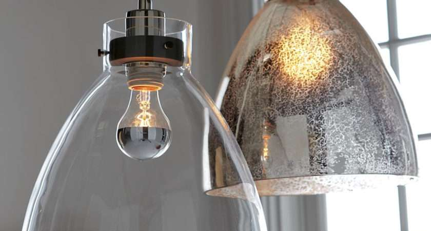 Industrial Ceiling Lamp Clear Glass West Elm