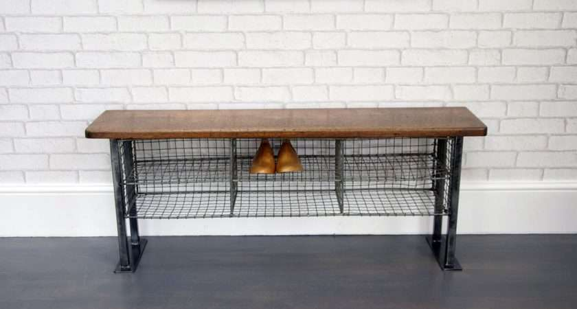 Industrial Double Pigeon Hole Bench Bring Home