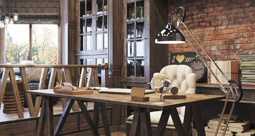 Industrial Home Office Designs Stylish Decor