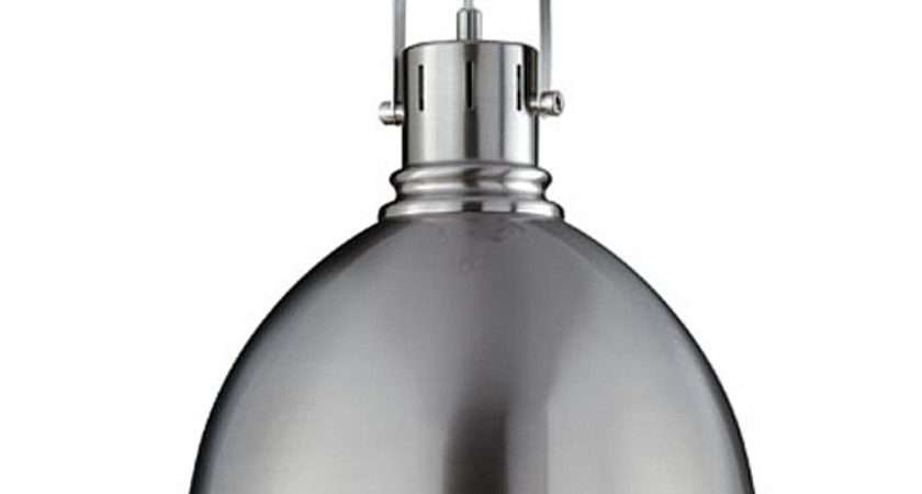 Industrial Pendant Lamp Brushed Nickel Red Candy