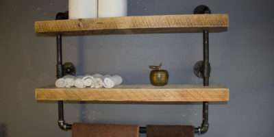 Industrial Pipe Shelf Bathroom Shelves Kitchen Reclaimedwoodusa
