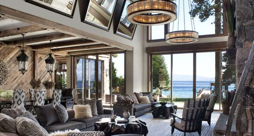 Inside Stylish Mountain Home Lake Tahoe Designed