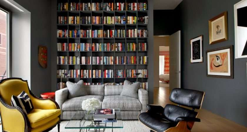 Interesting Ways Add Bookshelves Living Room
