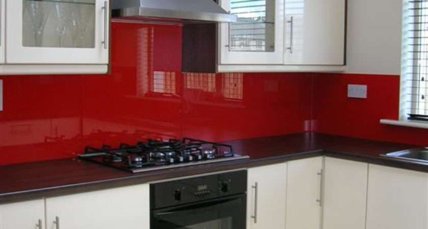 Interesting White Kitchen Red Splashback Latest Hia Award