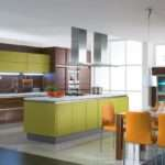 Interior Exterior Plan Colorful Elegant Kitchen