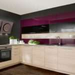 Interior Exterior Plan Grey Purple Themed Kitchen