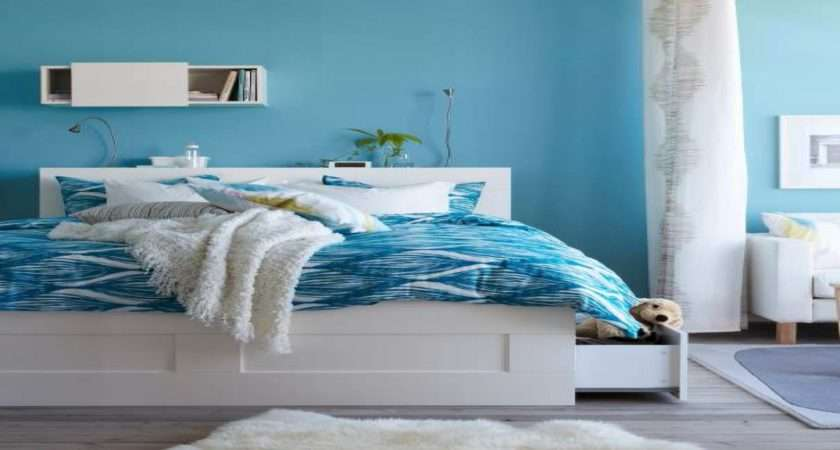 Interiors Small Bedrooms White Blue